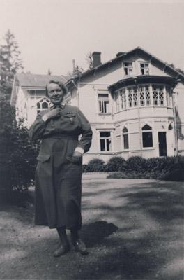 Syvärannan Lottaopiston johtaja Elli Malmgren.